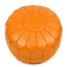 Orange Leather Moroccan Pouf, sharing luxury designer home decor inspirations an. Orange Leather M Moroccan Home Decor, Orange Home Decor, Moroccan Furniture, Moroccan Design, Furniture Decor, Moroccan Bathroom, Luxury Furniture, Moroccan Pouffe, Moroccan Leather Pouf