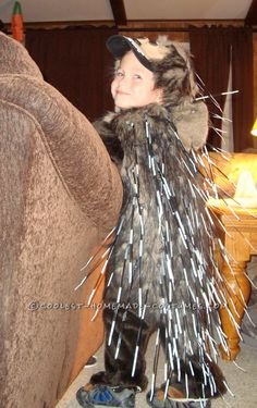 Upcycled Prickly Porcupine Toddler Halloween Costume... This website is the Pinterest of costumes