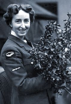 RCAF airwoman Nancy Lee from British Columbia drove trucks in Yorkshire during Second World War. Canadian Winter, Canadian Rockies, Air Force Uniforms, Hometown Heroes, Female Soldier, Women Names, Royal Air Force, Some Girls, Armed Forces
