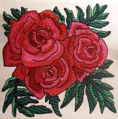 Free Embroidery Design: Roses