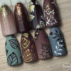 15 ideas holiday nails art thanksgiving for 2019 Holiday Nail Art, Winter Nail Art, Autumn Nails, Winter Nails, Get Nails, Hair And Nails, Matte Nails, Nagellack Design, Seasonal Nails