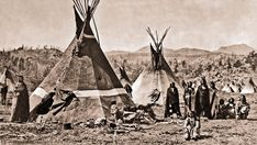 Shoshoni camp of Chief Washakie 1870