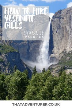 How to hike yosemite falls.  If you're planning a trip to Yosemite National Park in California, USA you should definitely make the hike up to the top of Yosemite Falls. Not only is this the tallest waterfall in North America but the views of the Yosemite valley below are well worth the effort of the hike!   #yosemite #yosemitenationalpark #usa #hiking #america #northamerica #hike