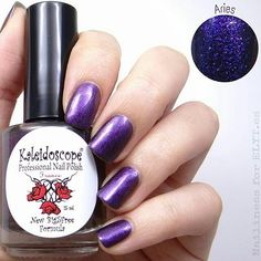 repost via @instarepost20 from @nailiness This is Aries my second favourite from the night dreams collection by kaleidoscope. It's also my horoscope sign. I applied 2 coats and no top coat. As I said before it's very depth the glitter is very thin almost shimmer and you can get lost watching it. I wouldn't say that it's a duochrome but definitely depending on the lighting it's more or less dark. It's available at @entrelazosytelas Web site. You can use my 15 % discount code on all your…