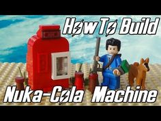 Learn how to build a Lego Fallout 4 style Nuka-Cola vending machine with an opening drinks compartment that fits a Nuka-Cola bottle. More Lego Fallout 4 vide. Lego For Kids, Diy For Kids, Fallout 4 Videos, Fallout Power Armor, Lego Candy, Lego Machines, Lego Videos, Fallout Art, Lego Moc