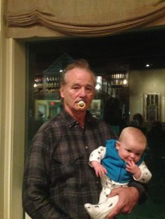 Bill and baby