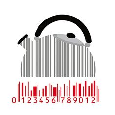 Kettle #barcode PD Barcode Art, Barcode Design, Logo Design, Graphic Design, Service Assiette, Stickers Design, Shadow Art, Fashion Illustration Sketches, Photomontage