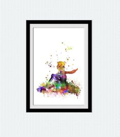 Little Prince watercolor poster The little prince by ColorfulPrint