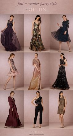 Fall and Winter Party Dresses and Wedding Guest Styles