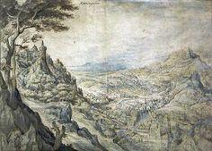 Gillis van Coninxloo - Weite Berglandschaft mit Burg