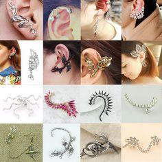 Hot Fashion Gothic Punk Temptation Metal Dragon Bite Ear Cuff Wrap Clip Earring #Unbranded #60StyleToChose