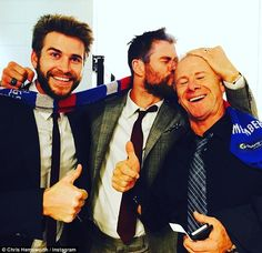 They did it! The whole Hemsworth family are loyal Bulldogs fans, as they all travelled to ...