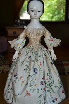 """ Newenglanddolls "" by Sonia Krause: 16"" HAND CARVED  QUEEN ANNE WOODEN DOLL REPRODUCTI..."
