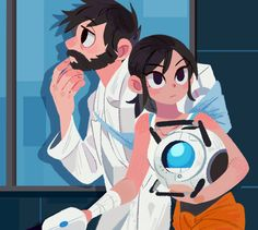 Video Game Art, Video Games, Portal Wheatley, Portal Memes, Portal Art, Aperture Science, Fanart, Half Life, Marvel
