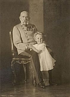 Emperor Franz Joseph of Austria and his great great nephew Archduke Otto Kaiser Franz Josef, Franz Josef I, Old Pictures, Old Photos, Die Habsburger, Joseph, Empress Sissi, Francisco Jose, Archduke