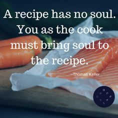 """A recipe has no soul. You as the cook must bring soul to the recipe."" - Thomas Keller #seafood #cooking #oceanbox Photo by: Caroline Attwood"