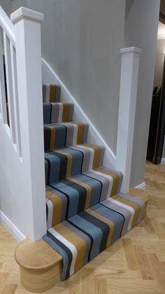 Hall Carpet Runners For Sale Code: 2572148147 Staircase Decor, Striped Carpets, Decor, Carpet Design, Interior Design Living Room Modern, Interior Design, Home Decor, Striped Carpet Stairs, Hallway Decorating