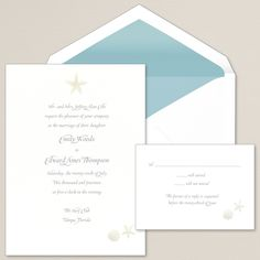 Seaside Style Wedding Invitation | #exclusivelyweddings | #beachwedding