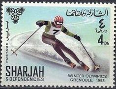 1968 Grenoble Olympics, Skiing S Ki Photo, Ski Card, Ski Wedding, Bobsleigh, Art And Craft Materials, Ski Posters, Ski Holidays, Sharjah, Winter Olympics