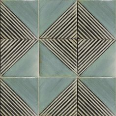 Classic-meets- contemporary blue tile with graphic... - #blue #Classicmeets #Contemporary #Graphic #tile