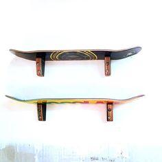 Skateboard Wall Shelf Set of 2 Two SkateShelf made from