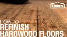 Refinishing Hardwood Floors - YouTube