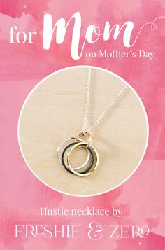 For the working moms on Mother's Day! Each is handmade in our Nashville TN studio.   Boss lady. Dreamer. Wearer of many hats. You know how to juggle it all and aren't afraid to work hard for your goals. Basically, you've got this hustle thing down.  Inspired by my own hustle in running my jewelry business (eleven years and counting!), I designed this necklace to represent all the #bossbabes out there!