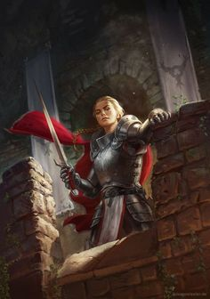 Новости female knight / paladin / fighter in armour with red cloak and sword fortress / castle / stronghold character inspiration for DnD / Pathfinder Fantasy Warrior, Fantasy Rpg, Medieval Fantasy, Fantasy Artwork, Dark Fantasy, Woman Warrior, Inspiration Drawing, Character Inspiration, Fantasy Character Design