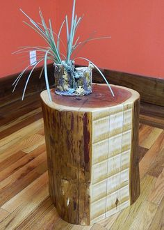 Rustic Live Edge Red Cedar Stump Stool/Reclaimed Timber/Plant Stand/Table $349.95