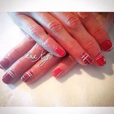 Plaid nails freehand @asiakaybeauty @asianailsandhair