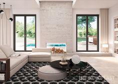 Elegant living room with black details #proluxevolution #oknoplast #windows #design #decor #home #homedecor #livingroom #black #blackwindows