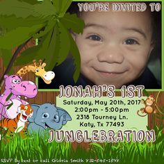 Junglebration invitation created by Kay's Kreations