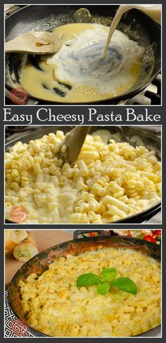 Delicious yet so Easy Cheesy Pasta Bake, the perfect family meal. Why not get the kids in the kitchen with you to cook this? The ultimate cheese lovers dream! Crispy melted cheese on top of creamy cheesy pasta, so good! Cheesy Pasta Bake, Cheesy Sauce, Cheesy Pasta Recipes, Noodle Recipes, Family Meals, Kids Meals, Easy Meals, Family Recipes, Pot Pasta