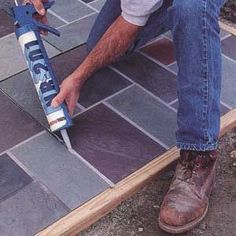 This is the slate look I imagined my hall to be, instead husband installed grey boring slate, I call it a chalk board Backyard Garden Landscape, Small Backyard Gardens, Ponds Backyard, Backyard Patio, Backyard Landscaping, Backyard Ideas, Rustic Backyard, Garden Oasis, Modern Backyard