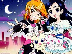 Awww!! Mipple and Mepple are so cute! Mepo ^-^ futari wa pretty cure max heart, cure black, cure white, mepple, mipple
