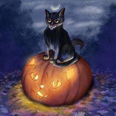 #paintablepumpkin Halloween Pumkin, digital painting, cat, digital art :) Dyi Crafts, Pumpkin Carving, Digital Art, Challenge, Halloween, Cats, Painting, Gatos, Painting Art