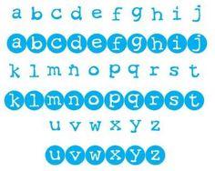 Sizzix Die  Lollipop Shadow Capital Letter Set