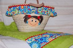 toalla y canasta de niña para la playa Ideas Para, Straw Bag, Diy, Crafty, Costume, Google, Tela, Craft, Hampers
