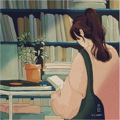 Cute Cartoon Wallpapers, Animes Wallpapers, Aesthetic Art, Aesthetic Anime, Anime Scenery Wallpaper, Digital Art Girl, Cartoon Art Styles, Cute Illustration, Anime Art Girl