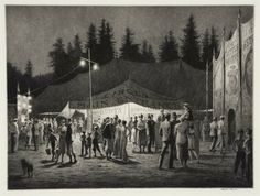 Circus Night, 1933 | Martin Lewis | Drypoint and sand ground [zb]