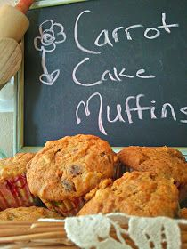 twelveOeight: Carrot Cake Muffins (Gluten Free!)