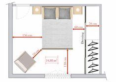 Dans cette chambre de 4,51 m x 3,30 m, les règles de circulation sont respectées. A l'entrée de la pièce, l'espace entre le lit et le mur est de 1,...