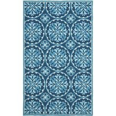 This Four Seaons rug features a hand-hooked polypropylene pile providing comfort and softness to the touch while providing protection from liquid spills, soil, and the element's worst