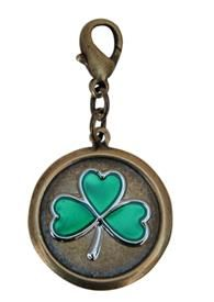 Brass Ox Charm with Shamrock