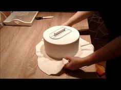 Ako spraviť ostré hrany na torte - Sharp Edges On Fondant Cake - YouTube