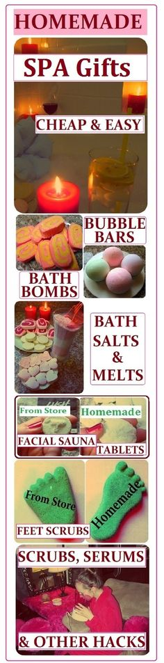 DIY Spa Product Recipes: Bubble Bars, Bath Bombs, Salts, Melts, Scrubs, Serums & Lotions. How to Make them CHEAP, EASY & QUICK Homemade Gift Ideas for Saint Valentine's Day, Birthday, Mother's Day or Christmas