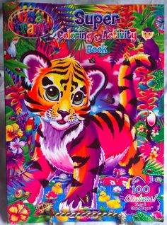 NEW Lisa Frank Super Coloring & Activity Book 100 Stickers Hunter Unicorn…