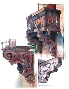 Disneyland Sketches | Don Carson Blog