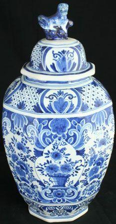 Active Vintage Candle Holder Netherlands Delft Blue Handpainted Pottery