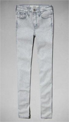 Jeans Abercrombie Women's A&F High Rise Super Skinny Jeans Railroad Stripe #Jeans #Abercrombie